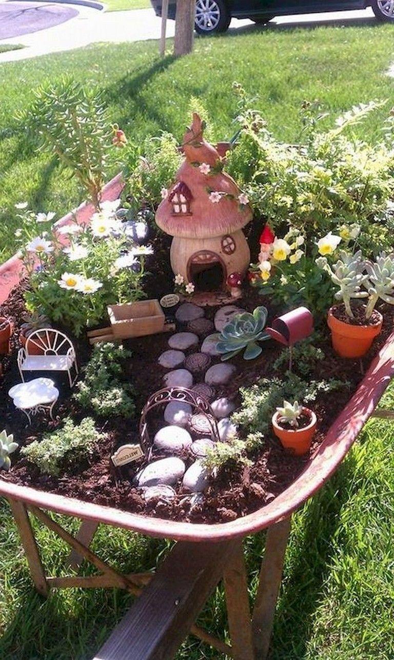 65 Marvelous Modern Farmhouse Plans Design Ideas And Remodel Miniature Fairy Gardens Miniature Garden Fairy Garden Diy