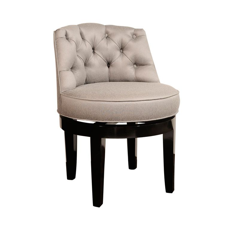 swivel vanity stool with back