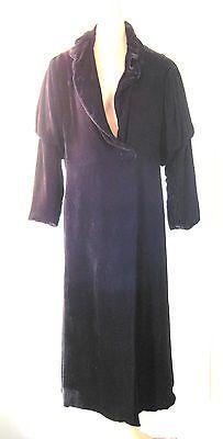 Vintage-1920s-I-Magnin-black-silk-velvet-Opera-Coat-Jacket-Downton-Abbey-Goth
