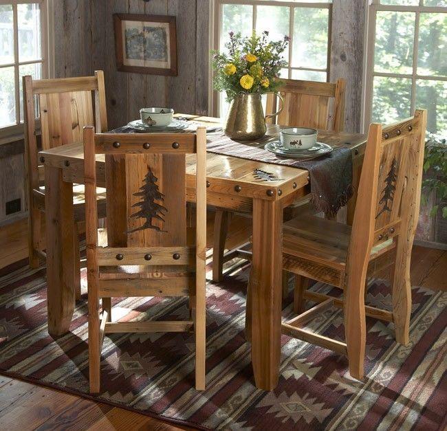 Details About Rustic Kitchen Table Set
