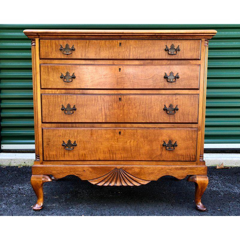Kaplan Vintage Solid Maple Dresser Chest For Sale Image 13 Of 13