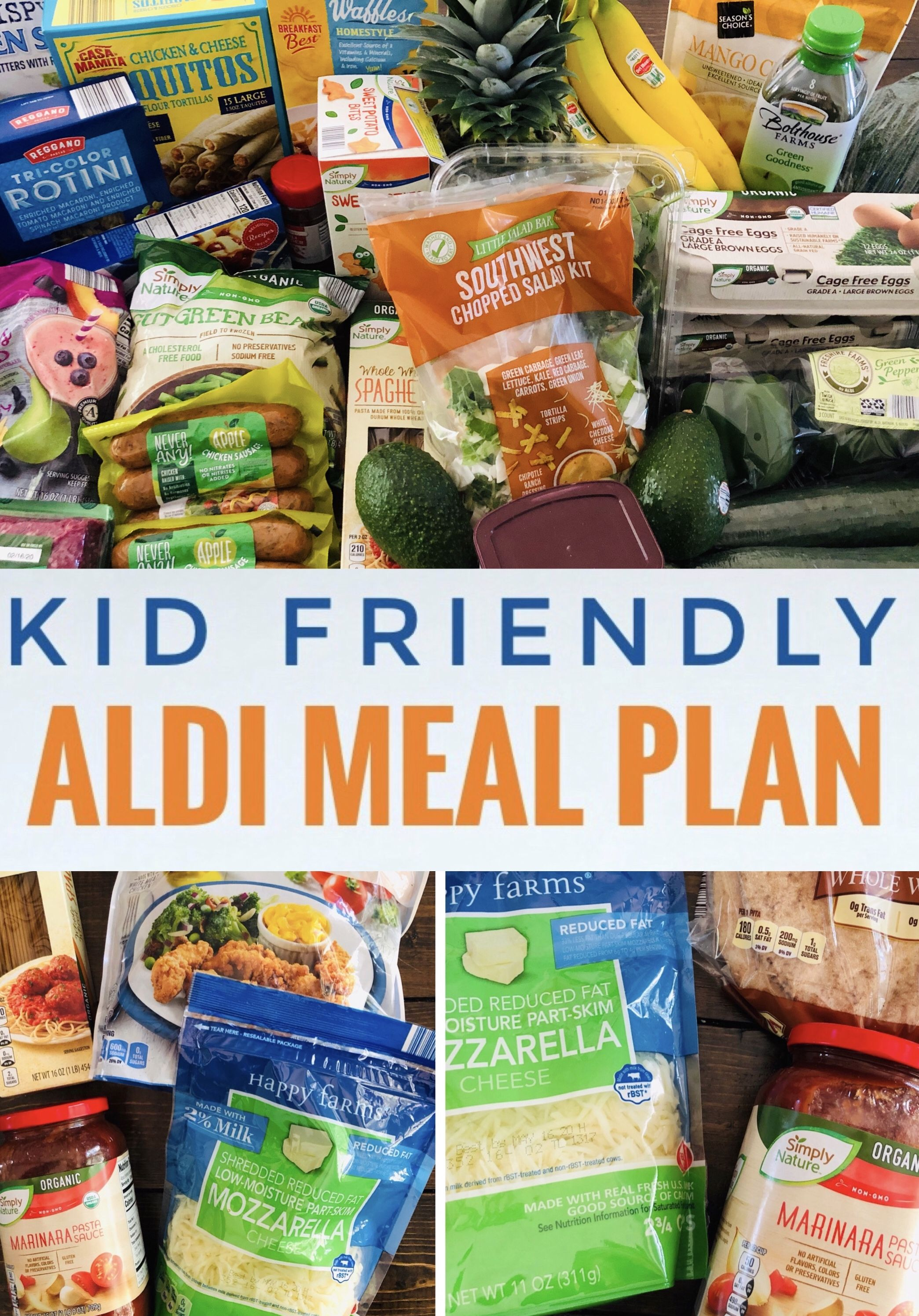 Easy Aldi Meal Plan For Busy Moms Glitter On A Dime In 2020 Aldi Meal Plan Kids Meal Plan Easy Meals For Kids