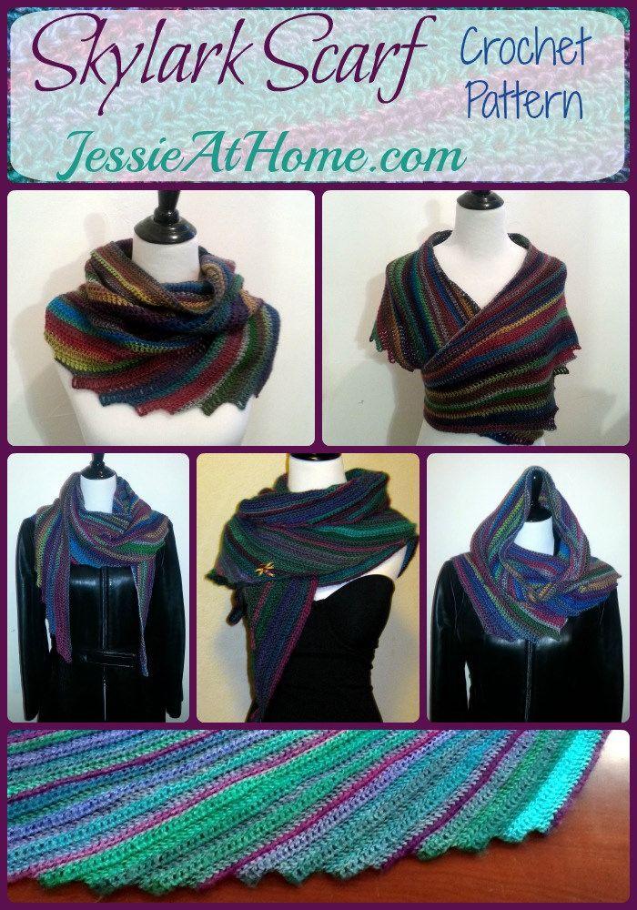 Skylark Scarf - Free Crochet Pattern   Haken   Pinterest   Tejido