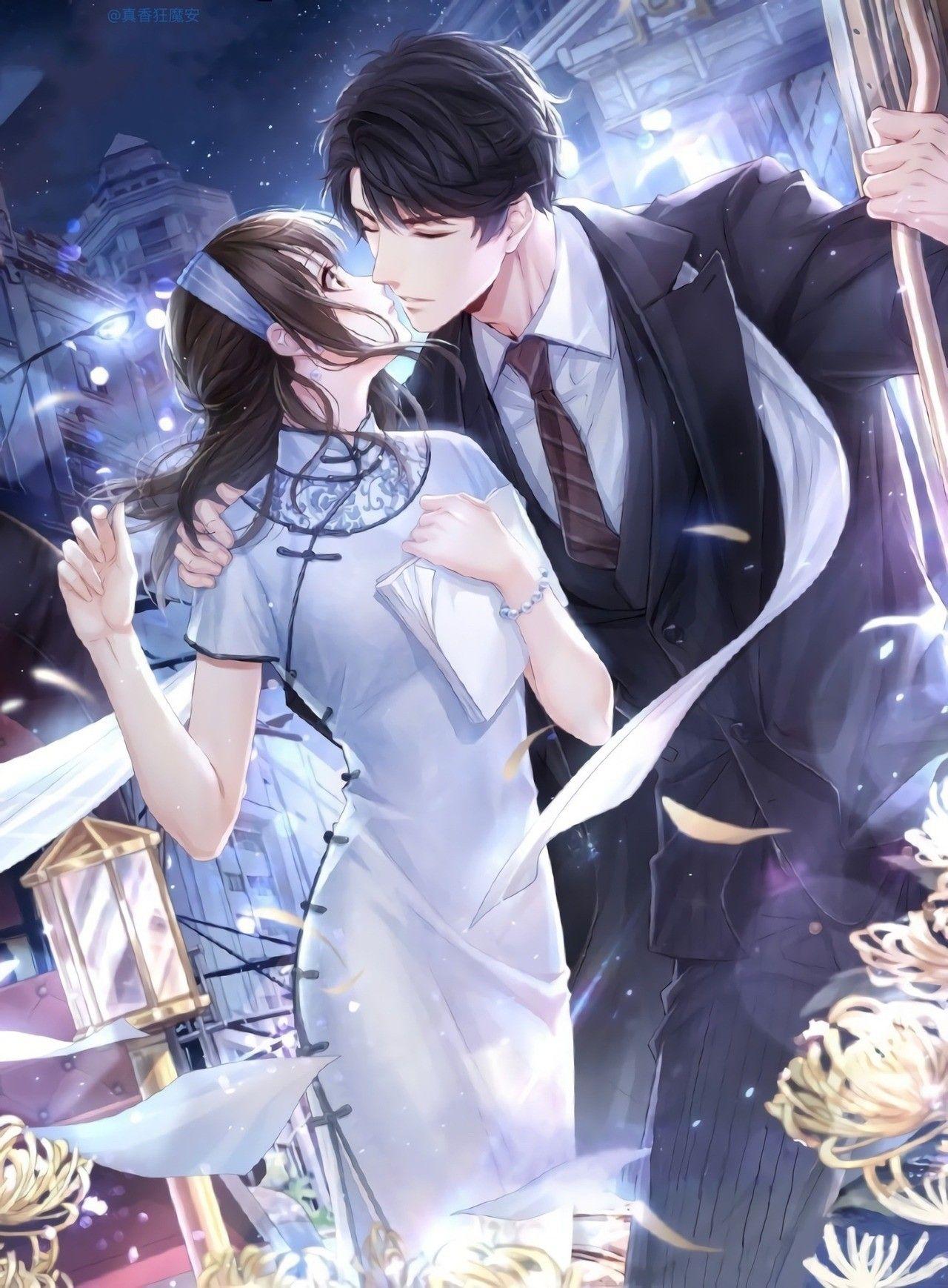 so romantic Handsome anime guys, Anime love couple