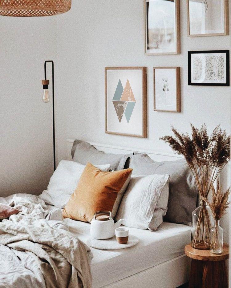Turquoise Triangles Wall Art Print Minimalism Geometric Print Printable Art Digital Print Minimalist Triangle Bedroom Art Poster In 2020 Home Decor Bedroom Bedroom Interior Cheap Home Decor