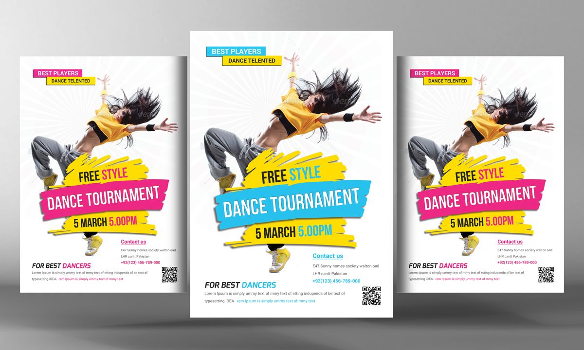 street dance flyer template by business templates on creative market