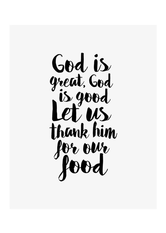 God Is Great Good Printable Art Prayer