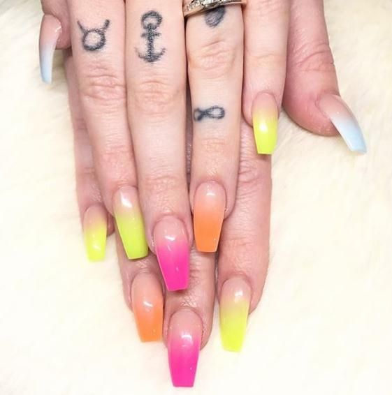 50 Colorful Acrylic Coffin Nails Of 2020's Spring - Latest Fashion Trends for Girls
