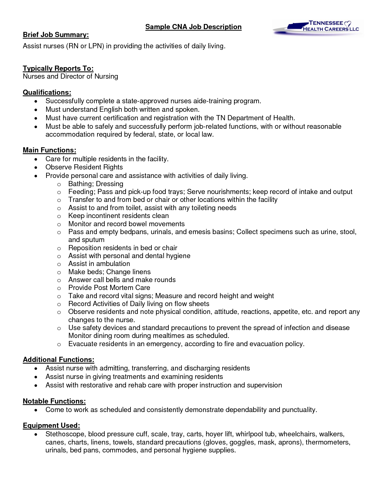 resume for a cna position - Google Search | cna | Pinterest