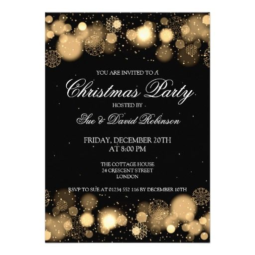 elegant christmas party winter wonder gold card  christmas, elegant business holiday party invitations, elegant christmas party invitation template, elegant christmas party invitation template free