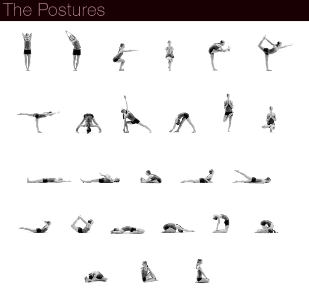 Bikram Yoga Poses Chart