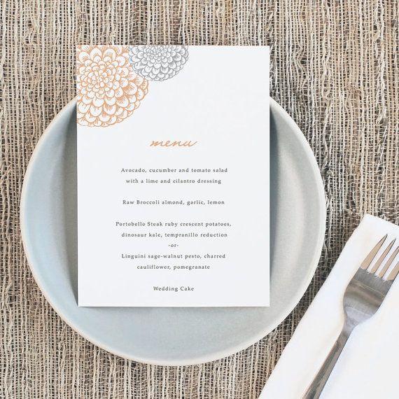 Diy Printable Wedding Menu By Swell Grand Printable