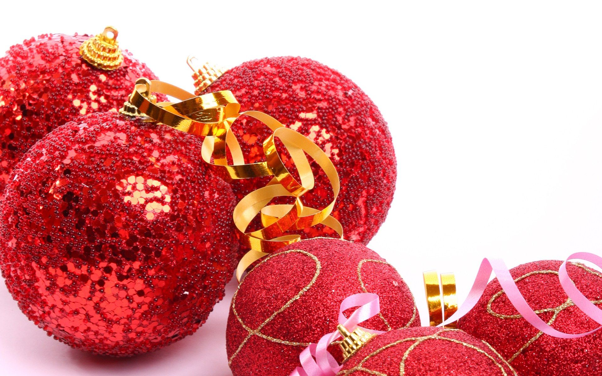 christmas ball balls wallpapers red bauble tree holiday colorful - Red Christmas Balls