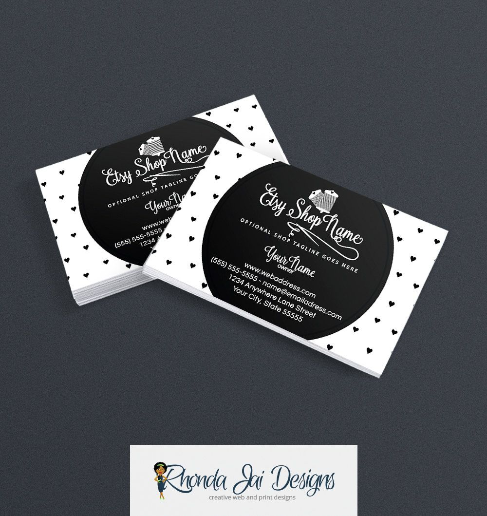 Business card designs business card design printable sewing 6 business card designs business card design printable sewing by rhondajai on etsy reheart Images