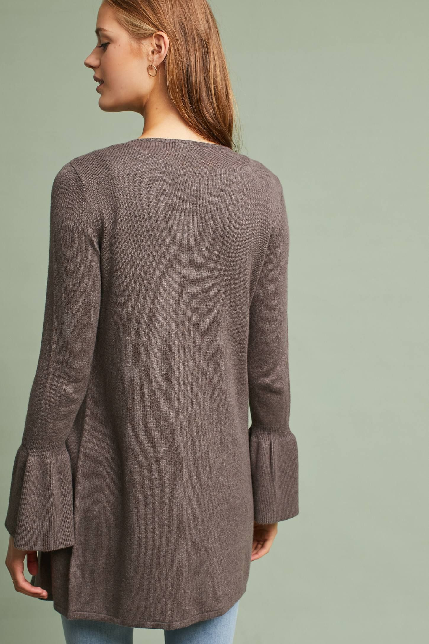 Bell-Sleeve Waterfall Cardigan | Anthropologie, Spring style and ...