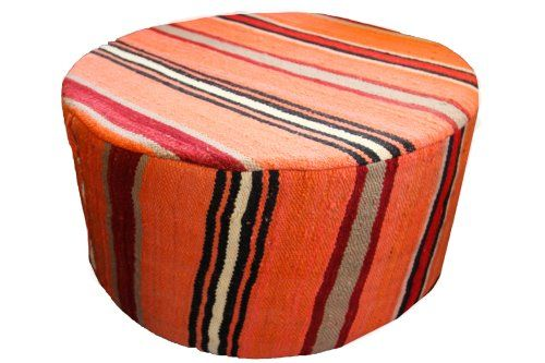 Moroccan Ottoman Pouf in Orange Kilim Rug Design Our Home Import,http://www.amazon.com/dp/B00KDNT8SY/ref=cm_sw_r_pi_dp_A-6Dtb19DFS5T5XK