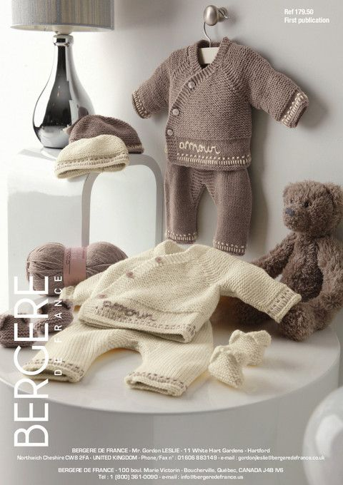 Bergere de France - 179.50 - Jacket, Trousers, Hat and Bootees (preemie - 6m)