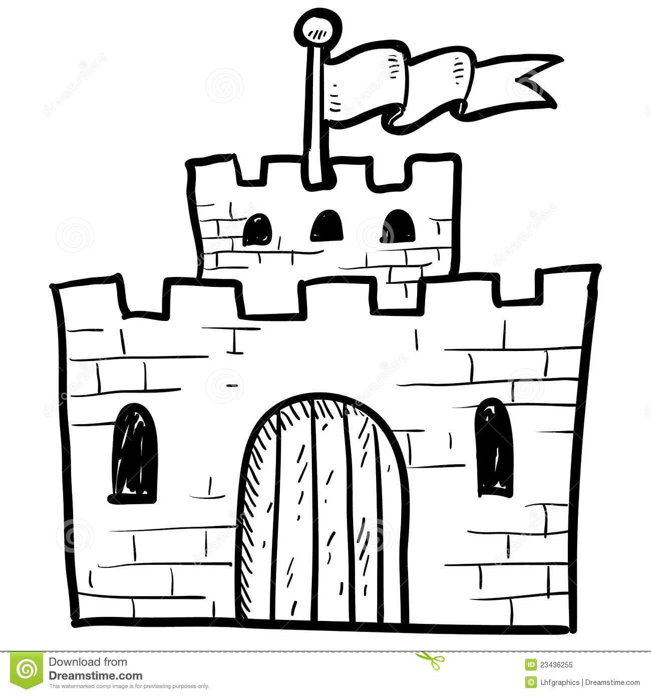Castle Door Drawing Secure Castle Sketch
