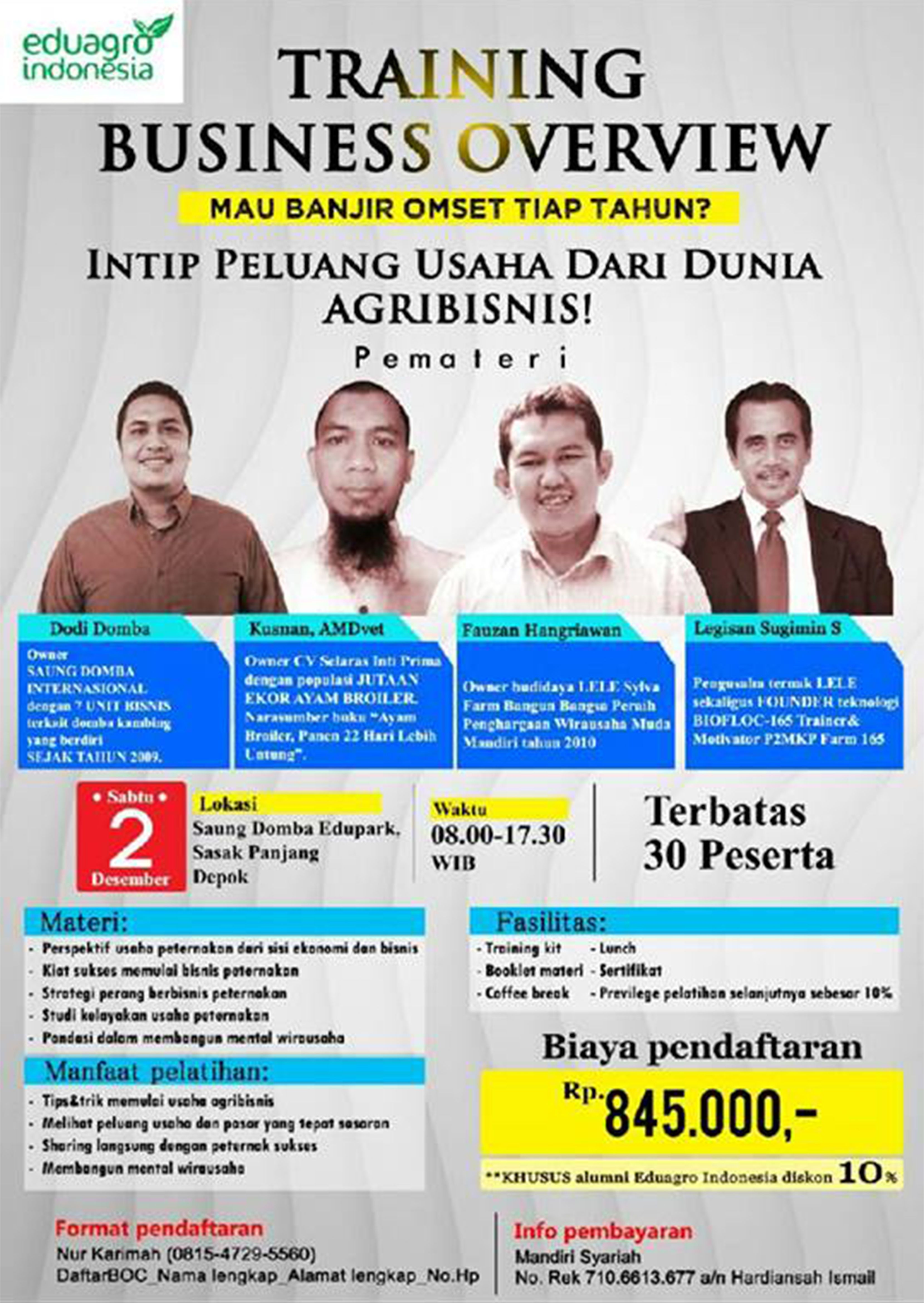 Poster Seminar Pengusaha Indonesia