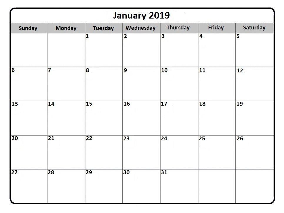 January 2019 Calendar pdf January 2019 Calendar Calendar
