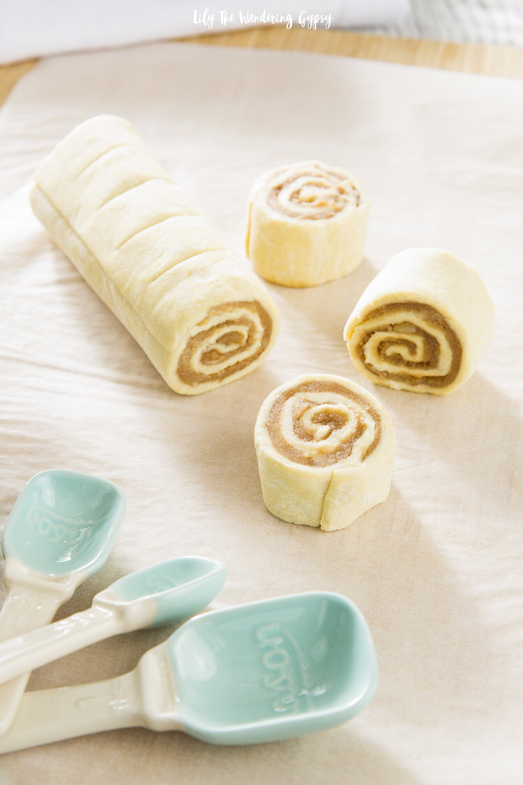 Mini Cinnamon Rolls with Puff Pastry Recipe — Lily The Wandering Gypsy #recipeforpuffpastry