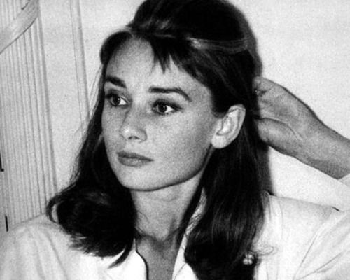 Audrey Hepburn inside of her dressing room at  Paramount Studios on September, 1960