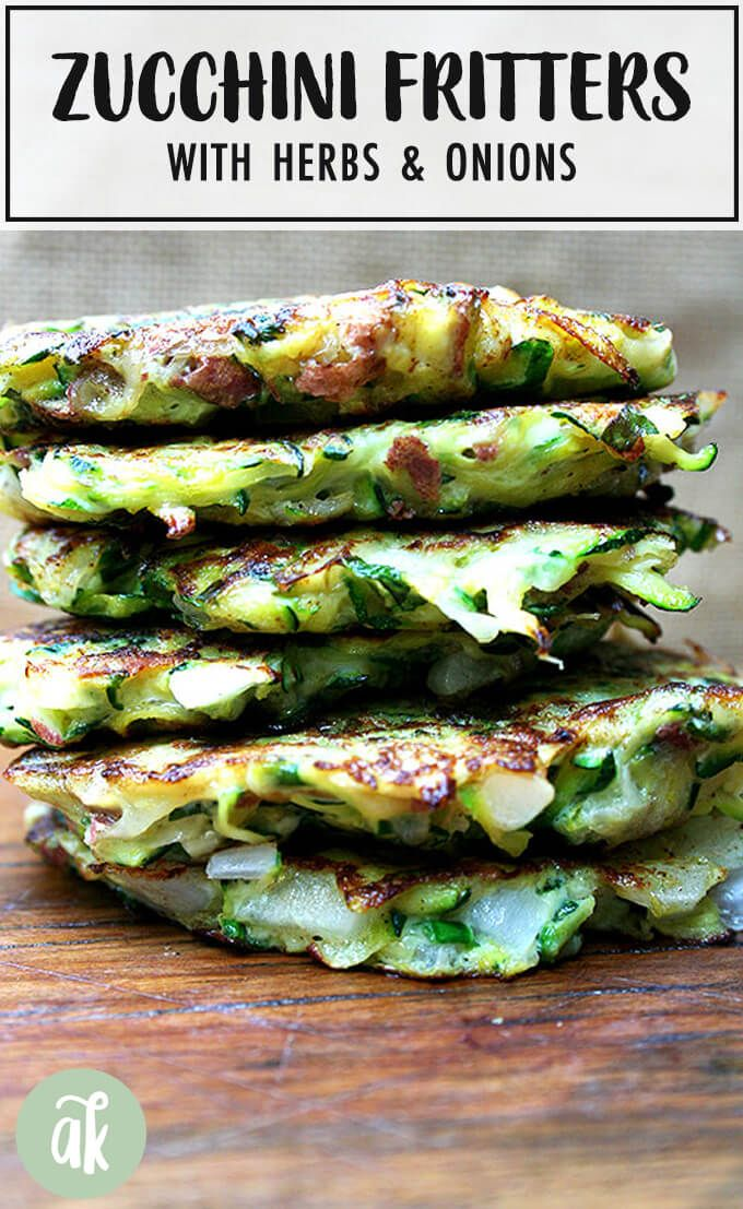 A combination of grated zucchini and potato with a little diced onion give these zucchini fritters a lovely latke texture But the addition of lemon zest and lots of herbs...