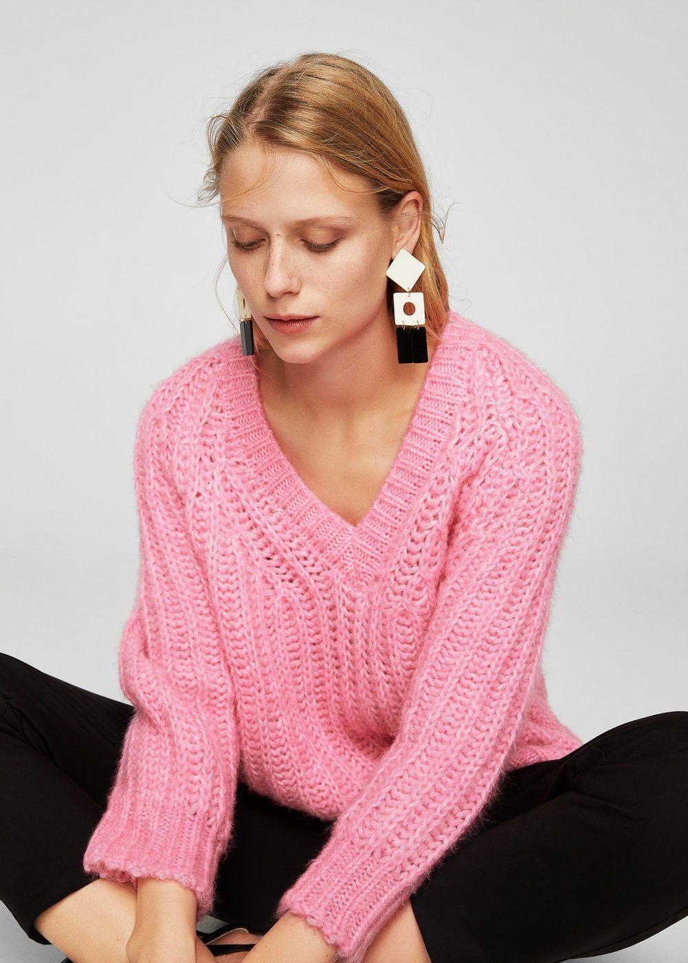 Jersey oversize escote pico - Cárdigans y jerséis de Mujer  bd53c865c2c