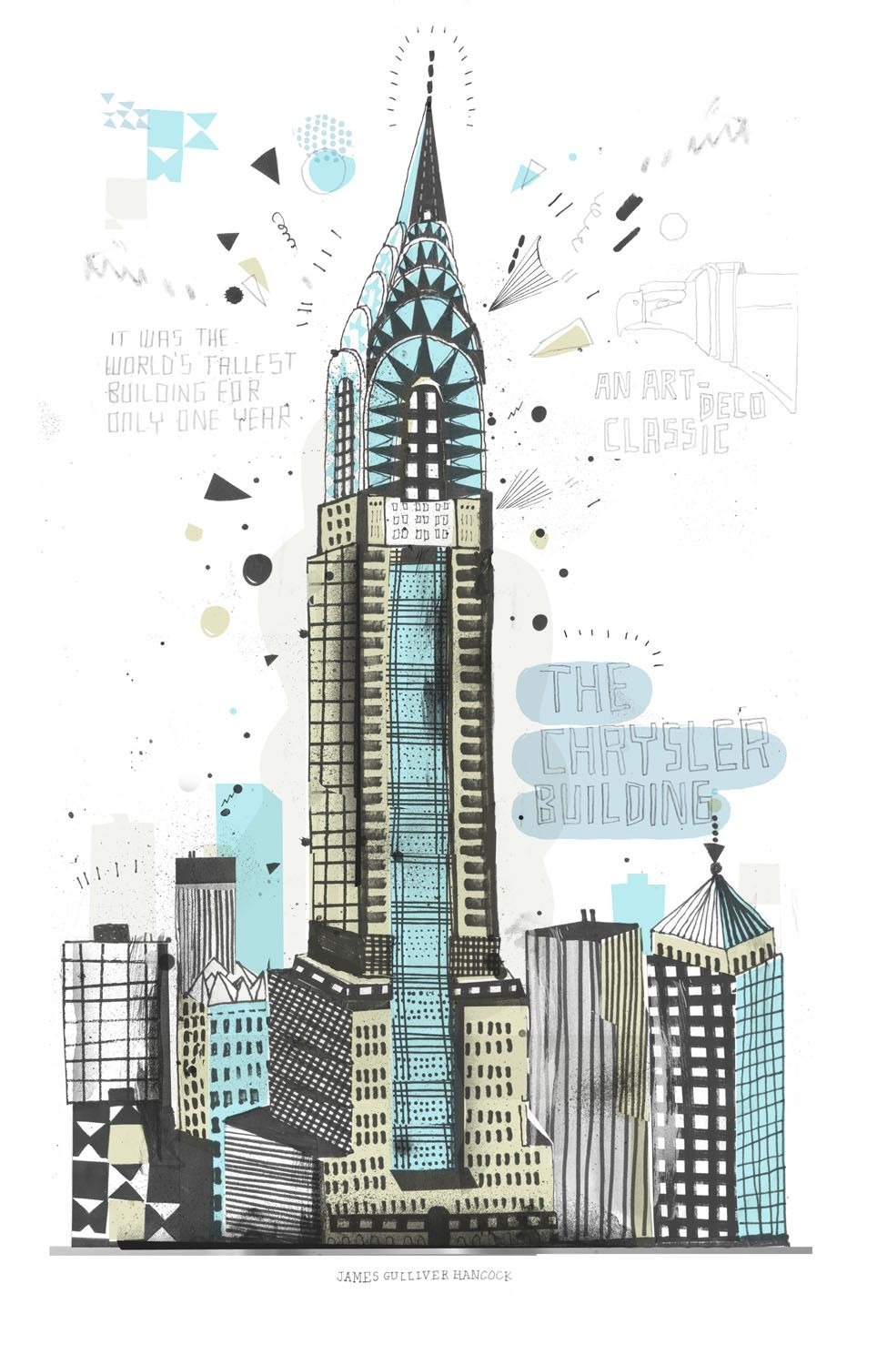 How To Draw New York City Chrysler Building All The Buildings In