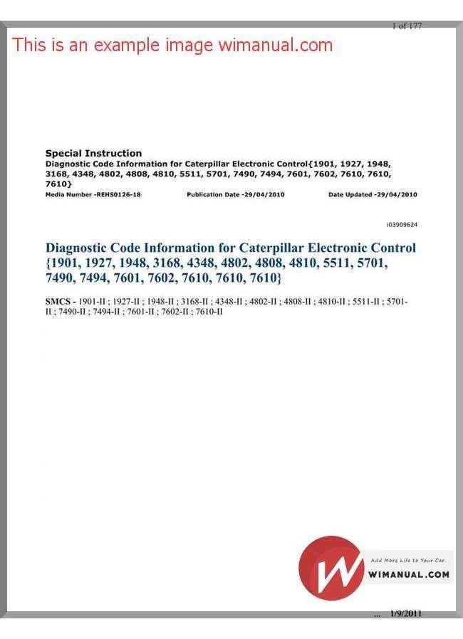 Caterpillar Diagnostic Code pdf download. This manual has detailed ...