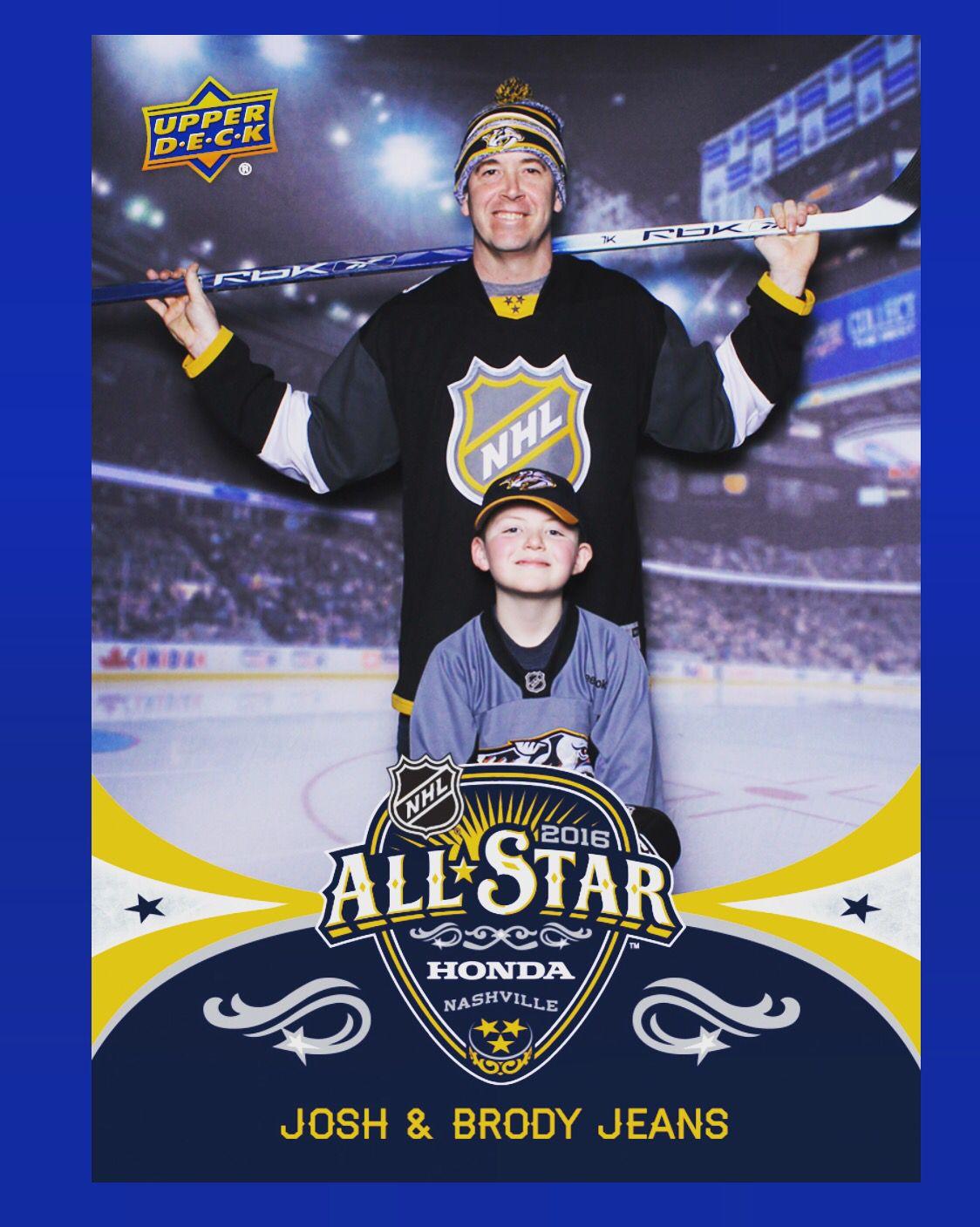 Me And Brody Got An Upper Deck Hockey Card Made At Nhl All Star Fan Fest Hockey Cards Upper Deck Nhl