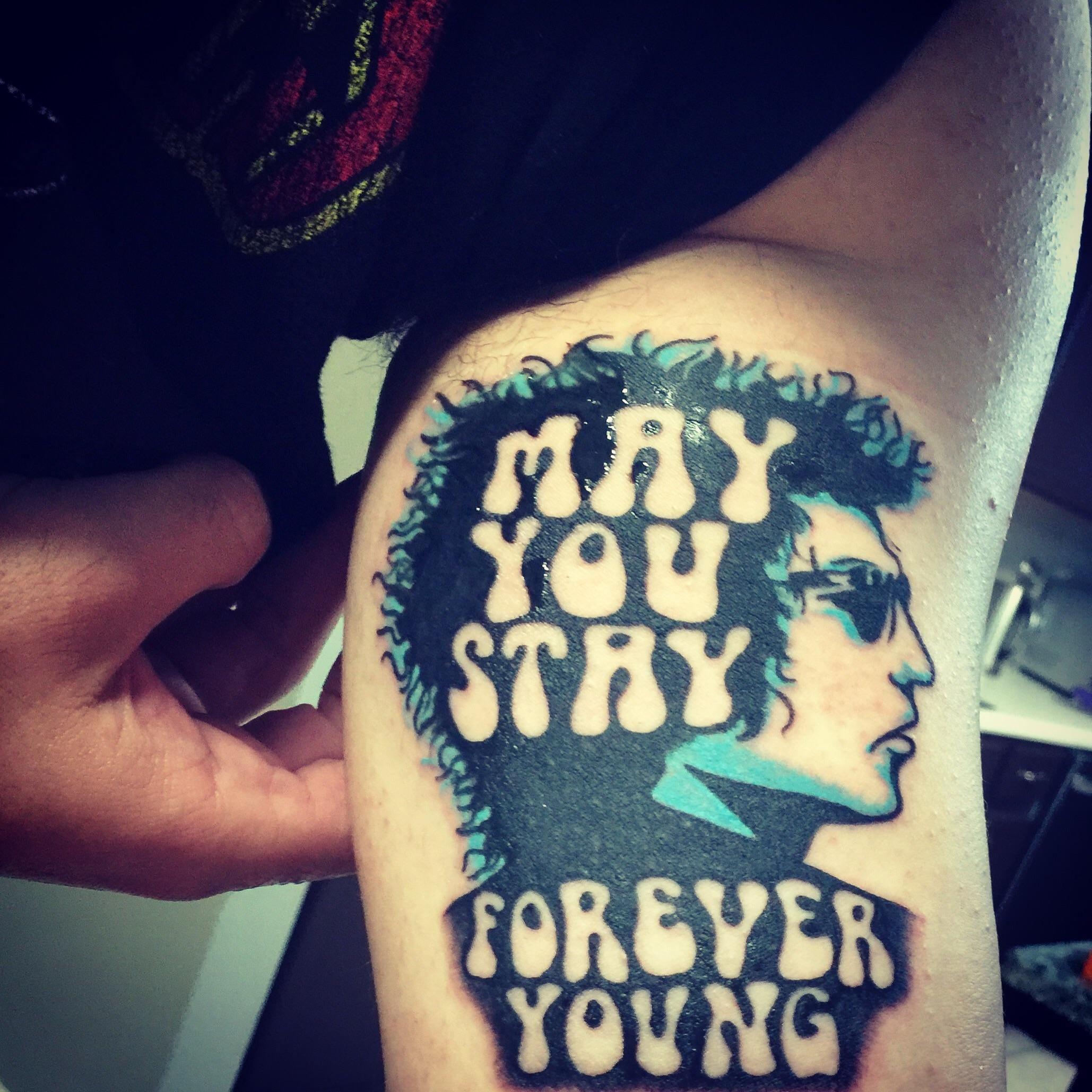 Bob Dylan by Jake Valdez at Flesh Electric Tattoo in San Antonio Tx ...