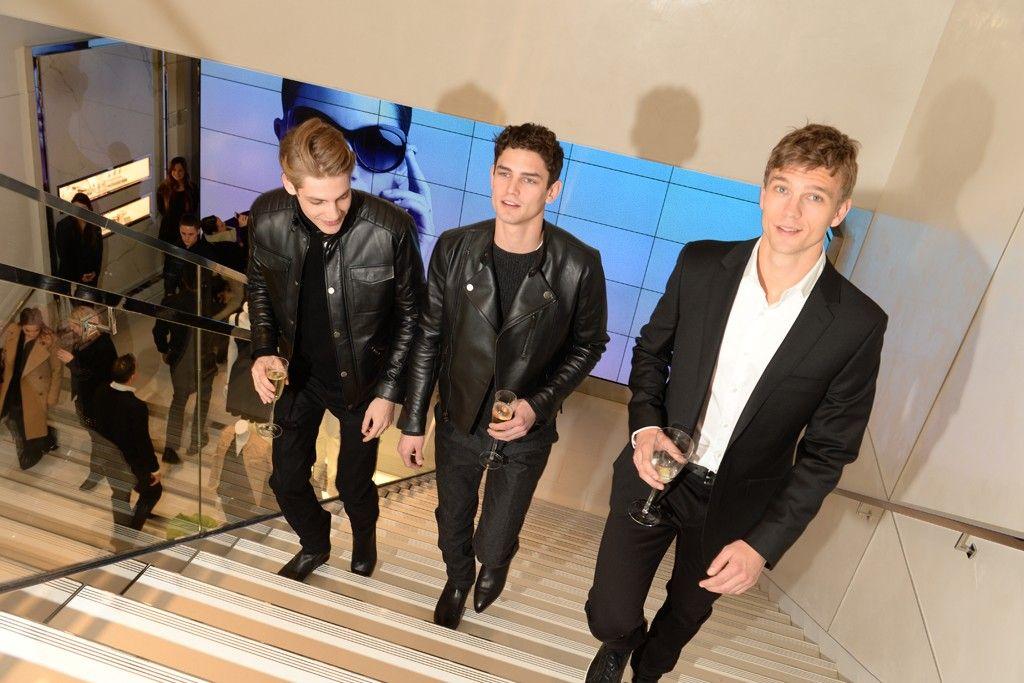 Arthur Gosse, Baptiste Radufe and Benjamin Eidem at Michael Kors Miranda Eyeswear Collection Event via http://www.dailymalemodels.com
