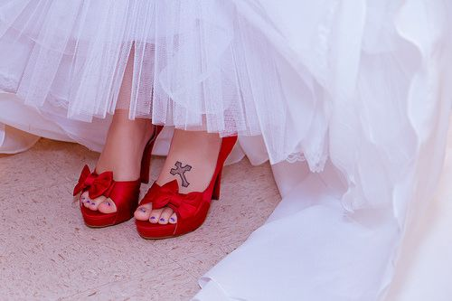 Awesome shoes with a tattoo please