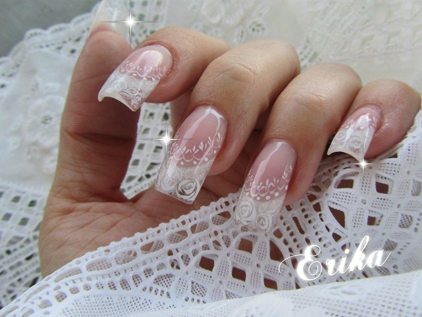 20 Classy Wedding Nail Art Designs | Wedding nails art, Bridal nails ...
