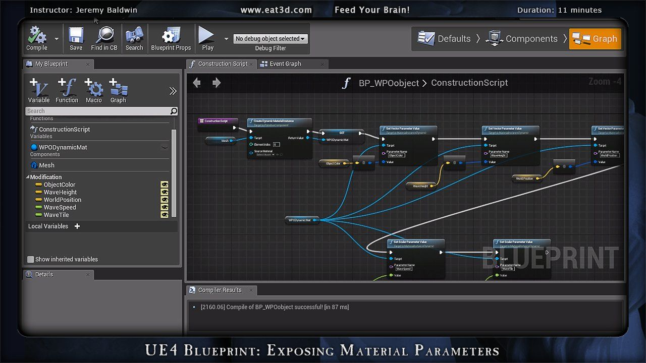 Ue4 blueprint exposing material parameters game tutorial ue4 blueprint exposing material parameters malvernweather Images