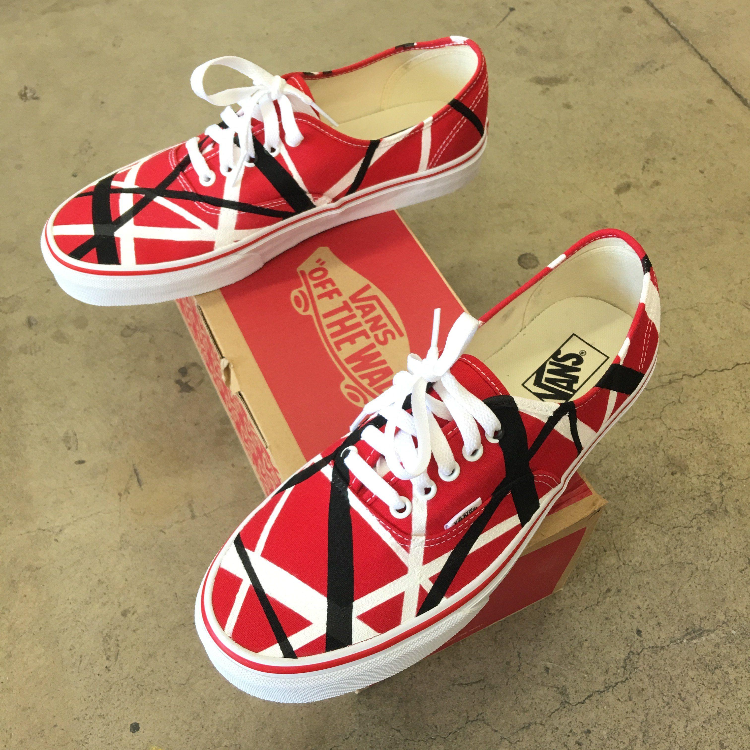 Van Halen Theme Vans Authentic Shoes Vans Pintadas Zapatos S A