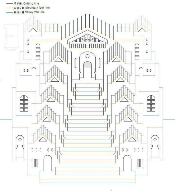 Origamic Architecture Patterns: 740 824 564 628 Pop Up Architecture Kirigami Origamic