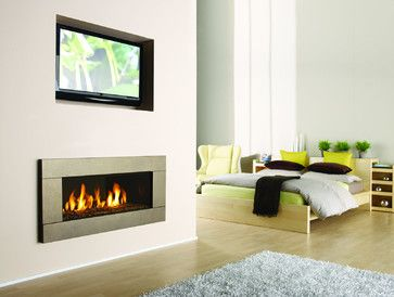 Master Bedroom Gas Fireplaces Contemporary Fireplaces
