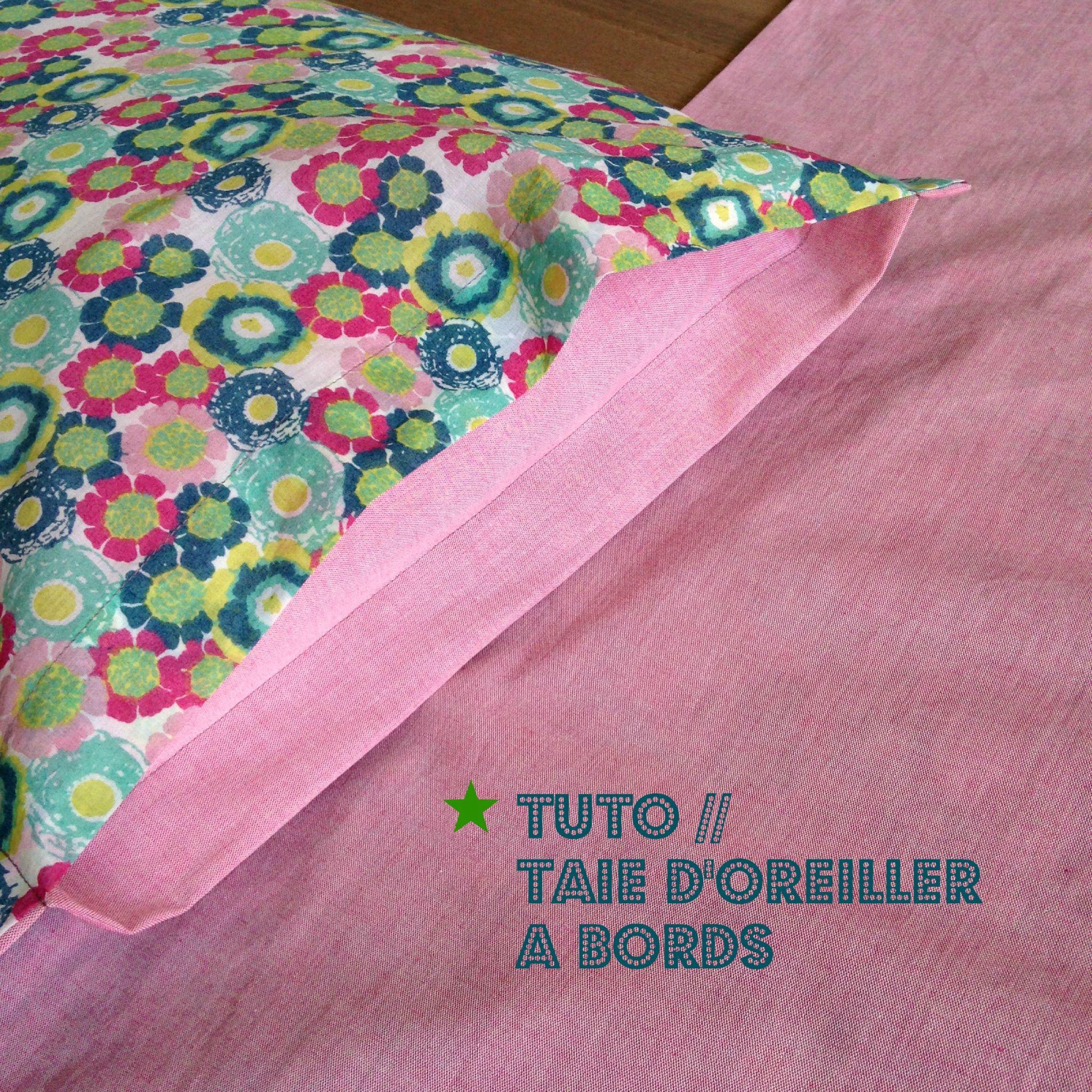 comment faire une taie d oreiller portefeuille tuto taie d'oreiller | DIY divers | Pinterest | Oreiller, Bord et Tuto comment faire une taie d oreiller portefeuille