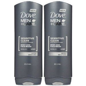Dove Men Care Body Face Wash Sensitive Skin 18 Oz By Dove 15 50 Hypoallergenic Skin Ph Neutral Won T Clog Pores Skin Dryness Dove Men Dove Men Care