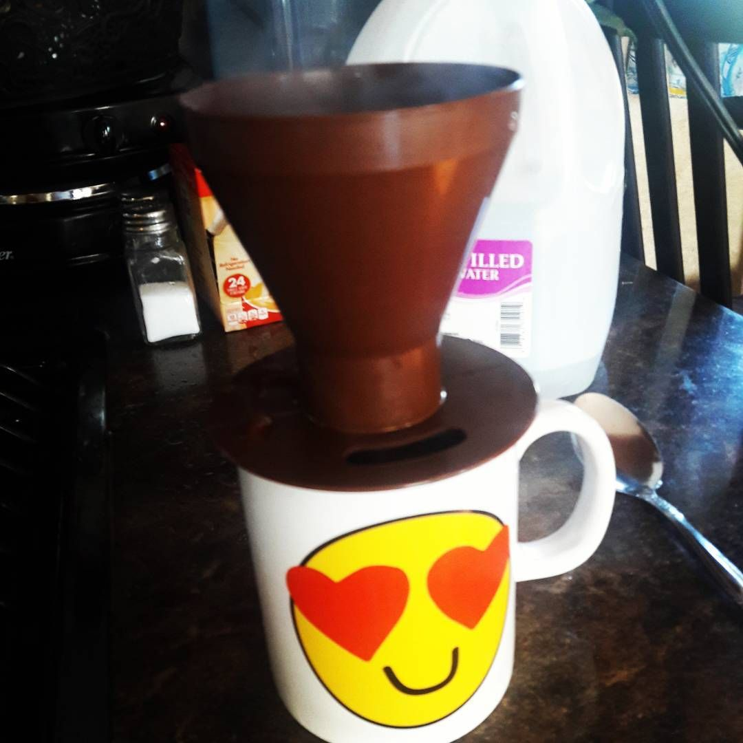 This thing is pretty neat. Pour over coffee cone. Make one cup of coffee at a time which is all I need. $5 at REI. If you camp or have a small space this is perfect! #gypsy_mommies #rvlife #fulltimervers #fulltimerv #fulltimefamilies #tinyhouse #mobiletinyhome #newadventures #nomadic #tinycoffeemaker #camping