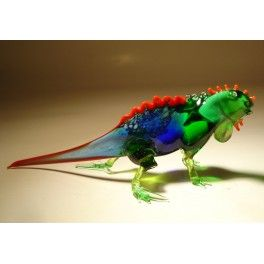 Glass Blue Grand Cayman Iguana $24.95 http://www.glasslilies.com/325-glass-blue-grand-cayman-iguana.html #Glass #Blue #Reptiles #Grand #Cayman #Iguana  #BlownGlass #GlassArt #Gifts #Figurine