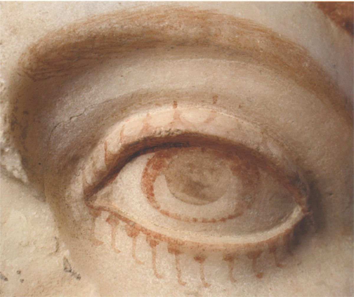 The Eye Of A Marble Statue From Herculaneum With Surviving Paint Ancient Art Ancient Pompeii Roman Art