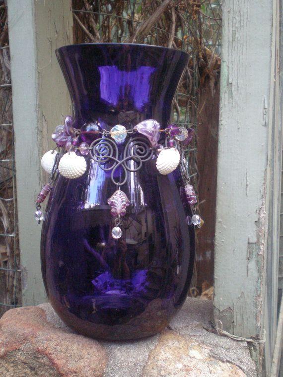 Black Wine Bottle Vase