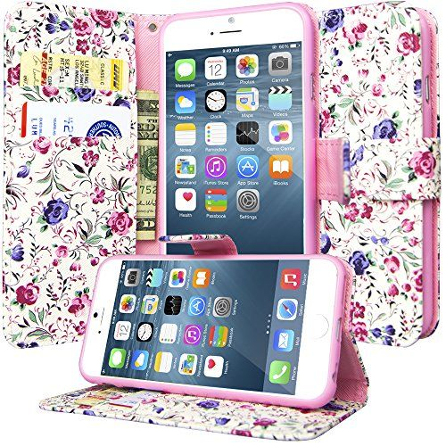 iPhone 6S Flip Wallet Case, Dimaka Girly Design PU Leathe...…