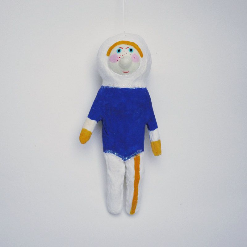Cosmic boy (Christmas decoration) Spun Cotton toy - Eva Revolver