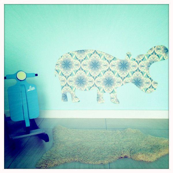 Fantastisch Wandtattoo Nilpferd Loisl   Paper Rocks #Kinderzimmer Deko #Vintage Tapete  Http:
