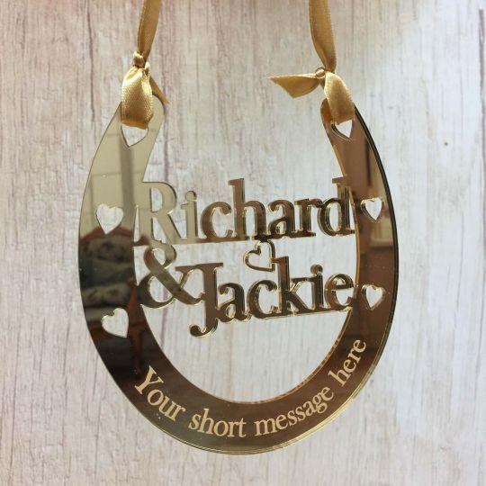 Nice Wedding Gift Ideas: Bridal Wedding Gift Mr & Mrs Good Luck Horseshoe
