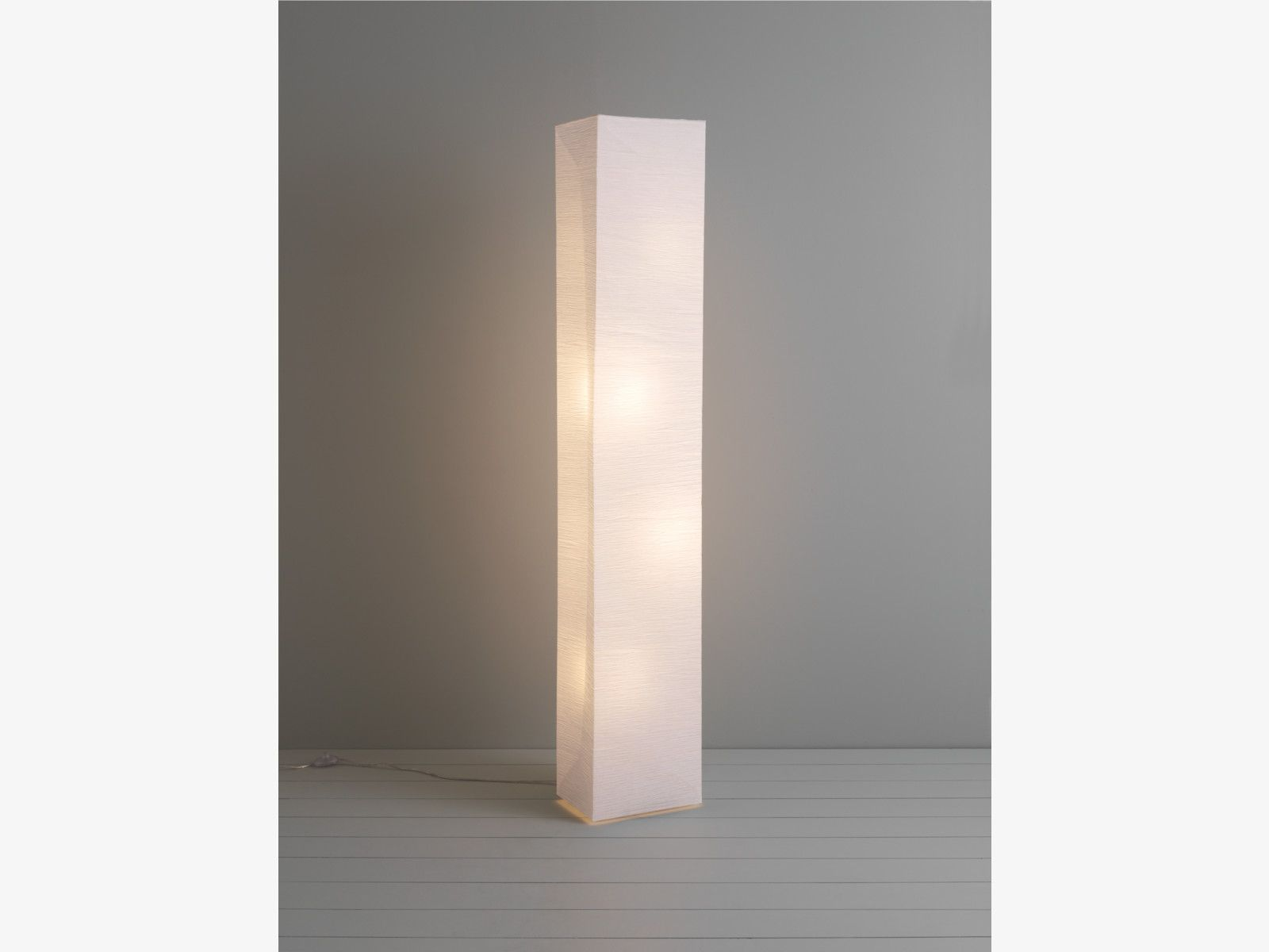 Nice no messy foot square paper white paper white crinkled a modern take on traditional japanese designs the hand finished square paper white floor lamp emits a soft glow through the crinkled organic paper aloadofball Images